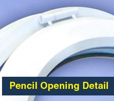 Pencil Opening Round Window
