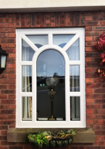 Arched window after being fitted by ArcOframe