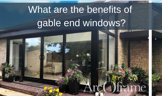 What are the benefits of gable end windows?